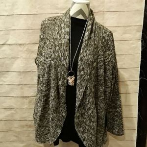 Brown and white cardigan from style & Co